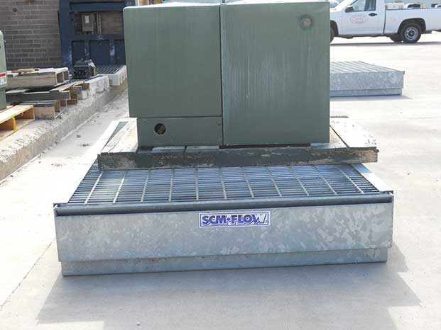 Mobile Secondary Containment Metal Drip Pan 4