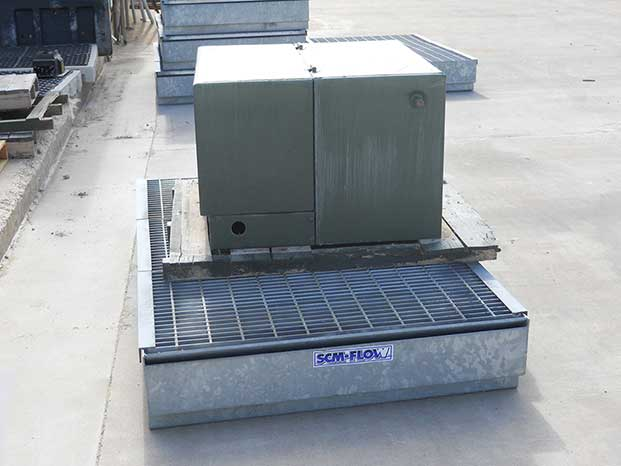 Mobile Secondary Containment Metal Drip Pan 3