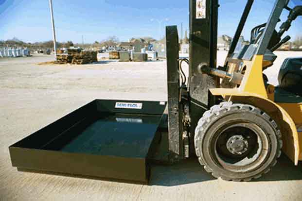 Mobile Secondary Containment Metal Drip Pan 1